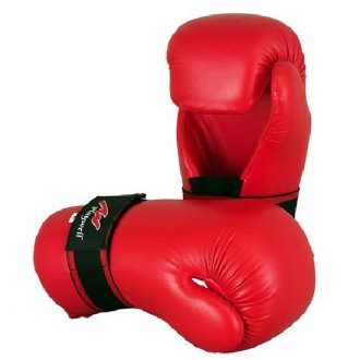 Semi Contact Point Sparring Gloves: Red