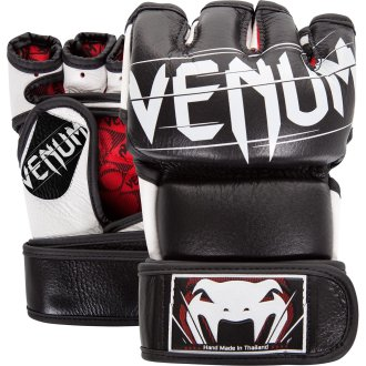 Venum MMA Black Leather Undisputed Fight Gloves - 4oz