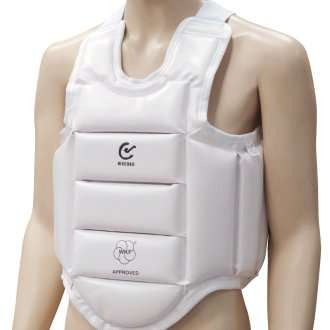WKF Approved Karate White Body Armour