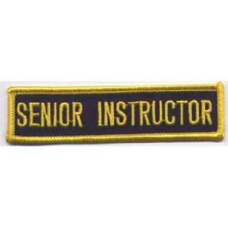 Senior Instructor Patch: P124