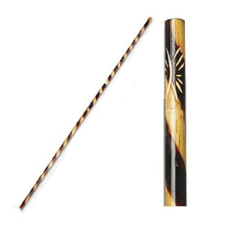 Bo Staff Rattan Burnt Spiral Pattern -...