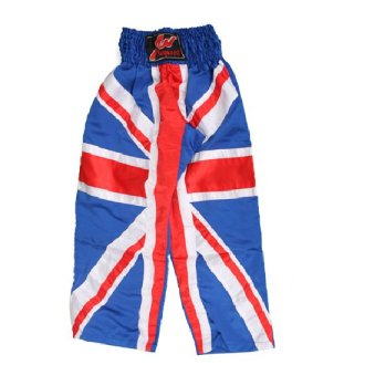UK Flag Full Contact Kickboxing trousers