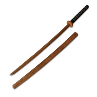 Childrens Roped Wooden Bokken With Scabbard