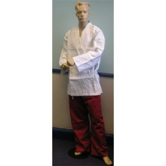 Karate Uniform: White Jacket / Red...