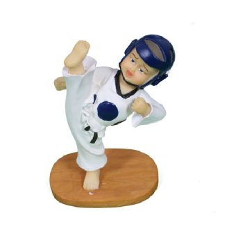 Taekwondo High Kick Figure - Blue