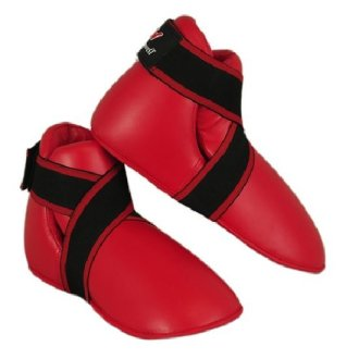 Semi Contact Point Sparring Boots - Red