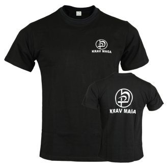 Krav Maga Black Cotton Training T shirt