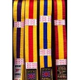 Belts: Coloured striped belts