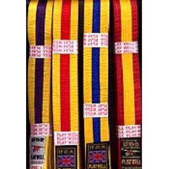 Belts: Black Belt with Coloured Striped
