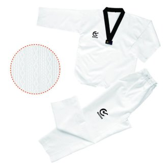 WTF Approved Taekwondo Black V Neck Uniform