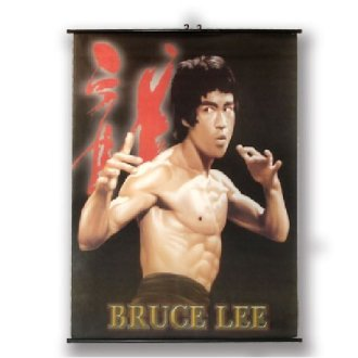 Large Bruce Lee Wall Poster Scroll: NO8