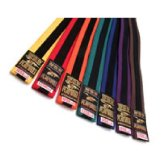 Coloured Striped Grading Belts - Clearance 280cm