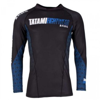 Tatami Mens Blue Hexagon Long Sleeve...