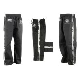 Krav Maga Combat Trousers - Black W/ 2 Camo Stripes Cotton