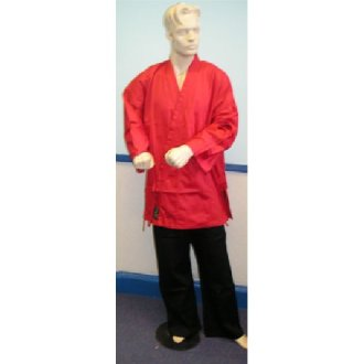 Karate Uniform : Red Jacket with Black...
