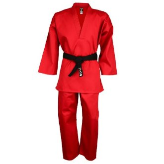 Taekwondo Red V-Neck Pull Over Uniform...