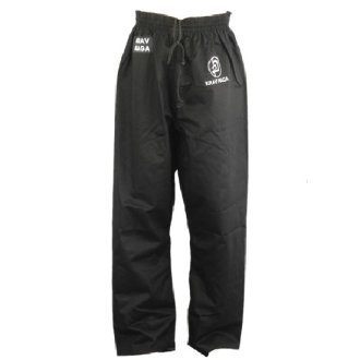 Krav Maga Combat Cotton Trousers - Plain Black