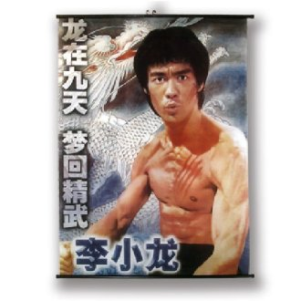 Large Bruce Lee Wall Poster Scroll: NO11
