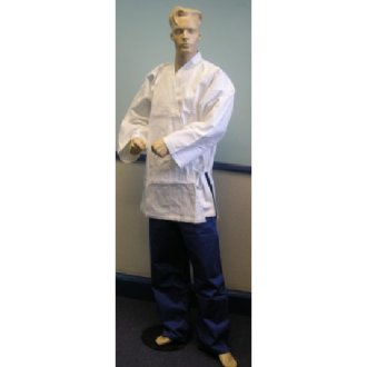 Karate Uniform: White Jacket / Blue...