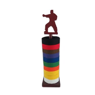 Round Belt Display Stand With Karate Figure