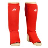 Elasticated Reversible Shin Instep Pads- Red/Blue