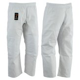 Judo Trousers: Bleached (White) 8oz - (Double Padded Knees)