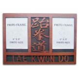 Wooden TKD Double Photo Frame Display - (Item: 08440 )