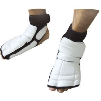 Taekwondo White Instep Foot Sparring Guards - Special Offer