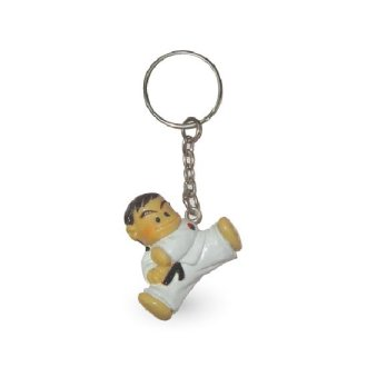 Taekwondo Figurine Kick Key Chain - H501
