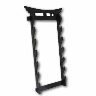 Tori Gate Wall Mounted Sword Display - 6 Tier