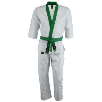 Tang Soo Do 9oz Uniform - Green Trim