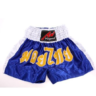 Muay Thai Competition Fight shorts - Blue/White