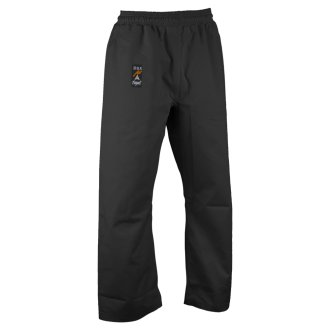 Karate Heavy Weight Canvas Trousers Black - Elasticated Waist