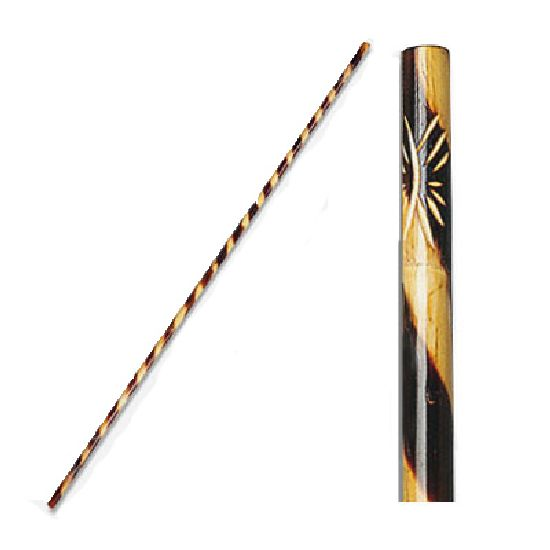 Jo Staff Rattan Burnt Spiral Pattern