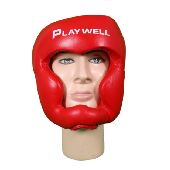 Boxing/Karate Headguard: Leather