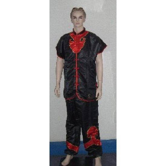 Kung Fu Outfit: Satin Sleeveless / Applique