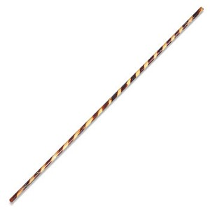 Bo Staff Rattan Burnt Spiral Pattern