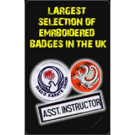 Largest Selection Of Emrboidered Badges in The Uk