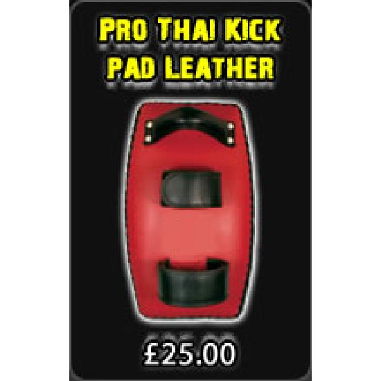 Pro Thai Kick pad Leather Curved
