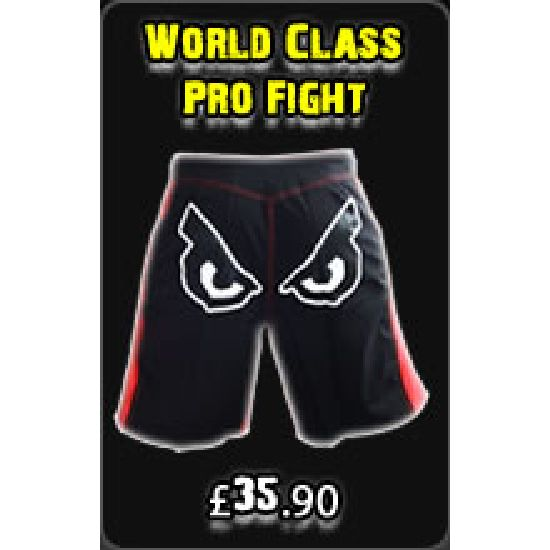 "Bad Boy Black "" World Class Pro "" Fight Shorts"