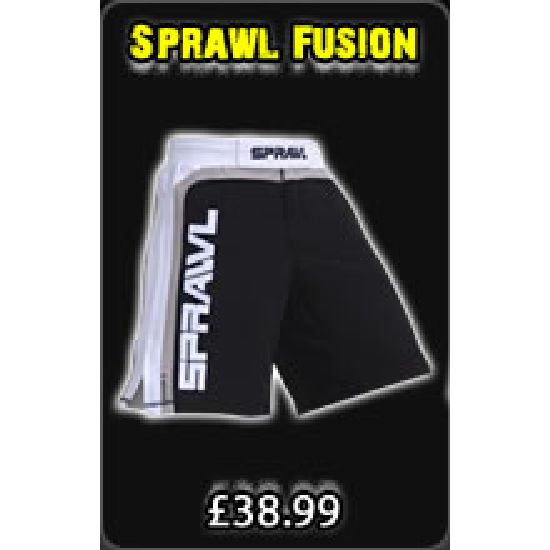 Sprawl Fusion Series Fight Shorts - Black/ White/ Grey