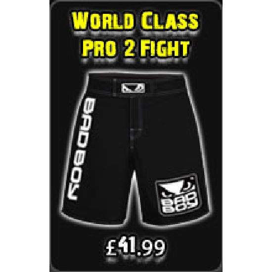 "Bad Boy Black "" World Class Pro 2 "" Fight Shorts"