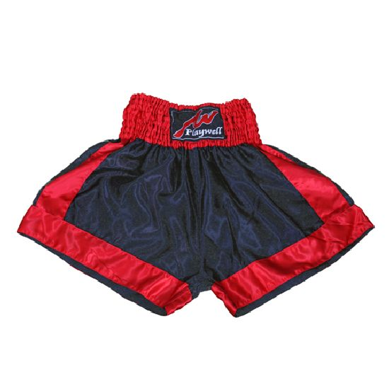 Boxing Fight shorts - Black/Red Plain