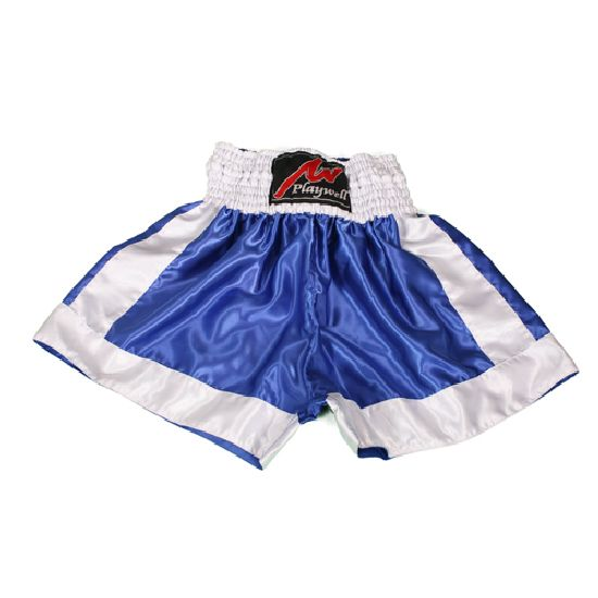 Boxing Fight shorts - Blue/White Plain