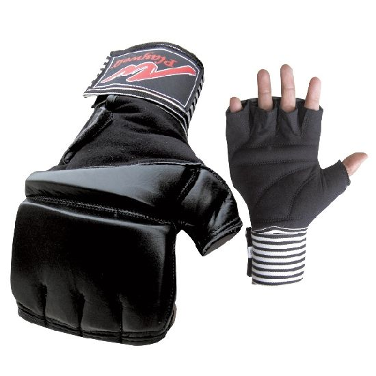 Gel Wrap MMA Leather Bag & Mitt Gloves