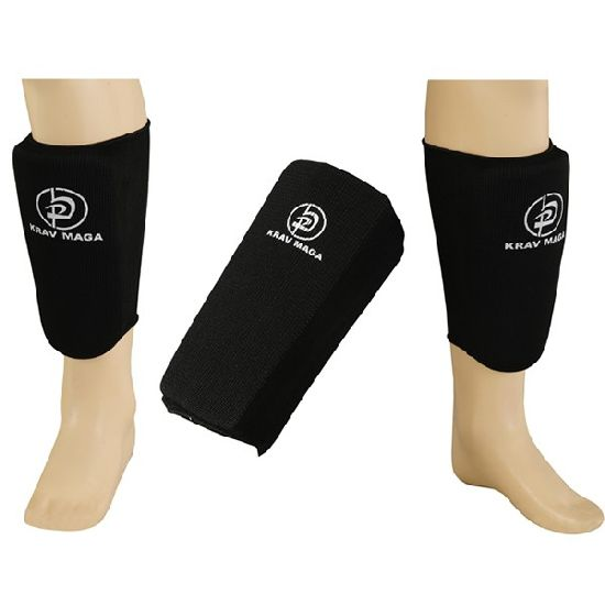 Krav Maga Black Full Contact Elasticated Shin Guards
