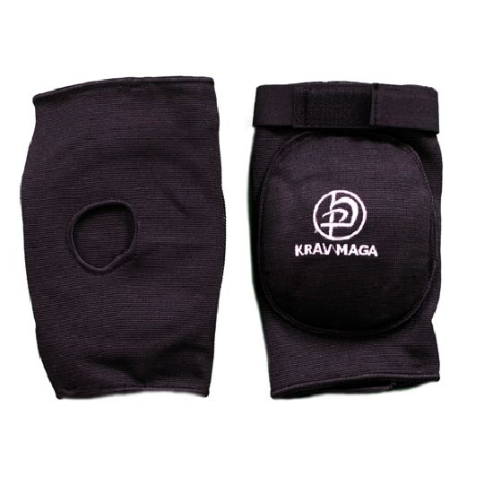 Krav Maga Black Deluxe Padded Elbow Pads - Adjustable Strap