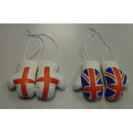 Mini Car Hanging Boxing Gloves