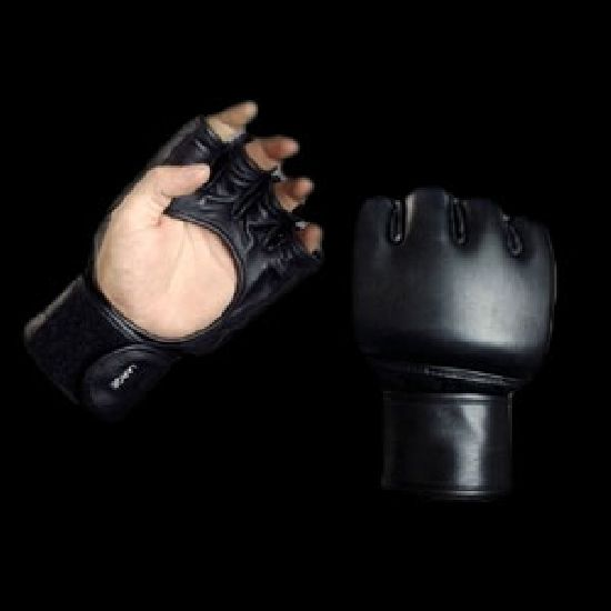 PRO MMA Open Palm Training Leather Fight Gloves