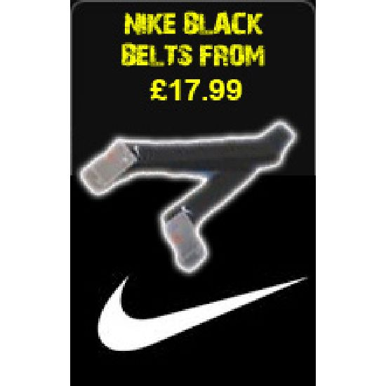 Nike Black Belts From £17.99